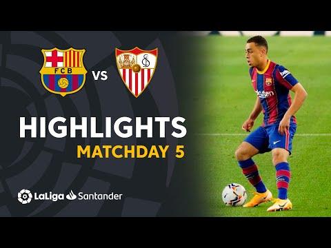 Highlights FC Barcelona vs Sevilla FC (1-1)