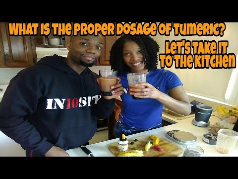 MRS & MR IN10SITY GO OVER PROPER TUMERIC CURCUMIN DOSAGE. (MAKING TUMERIC SHAKES)