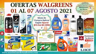 Plan de Ofertas Walgreens 👉8/1/21 al 8/7/21