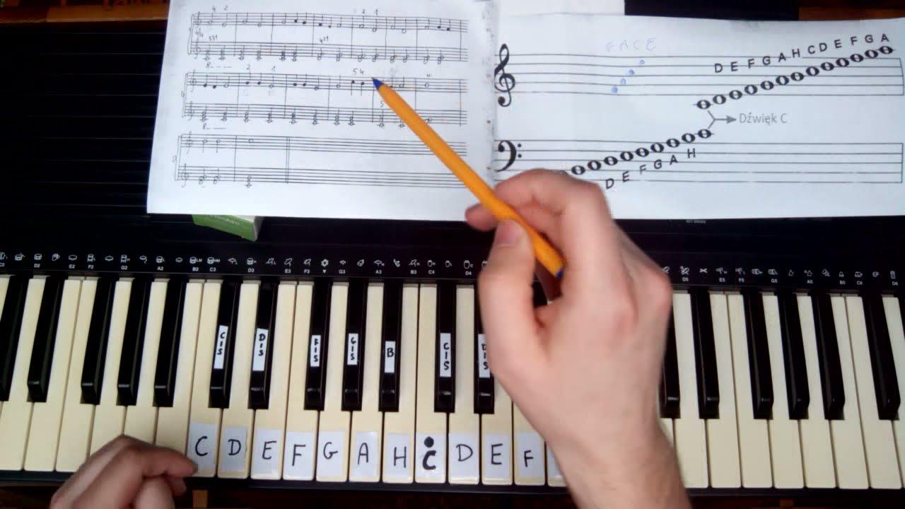Groovy Nauka czytania nut na keyboardzie od A do Z - lekcja 1 - YouTube FU17
