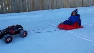 Toddler Sled - Traxxas Summit Pulls Sled With Toddler