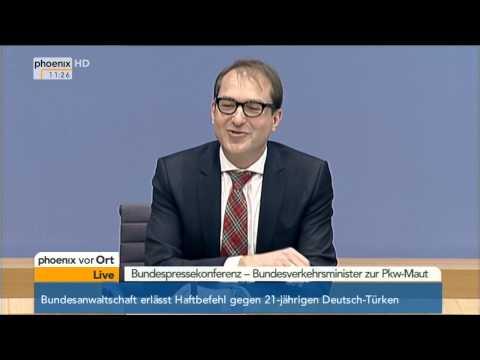 PKW-Maut: Alexander Dobrindt stellt den Gesetzentwurf vor am 17.12.2014