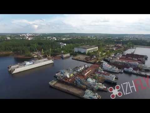 город Чайковский аэросъемка от студии IzhFly - 4k UltraHD видео