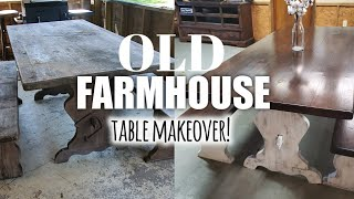 Old Farmhouse table makeover | DIY Table makeover 2019 |  Farmhouse Dining room table .