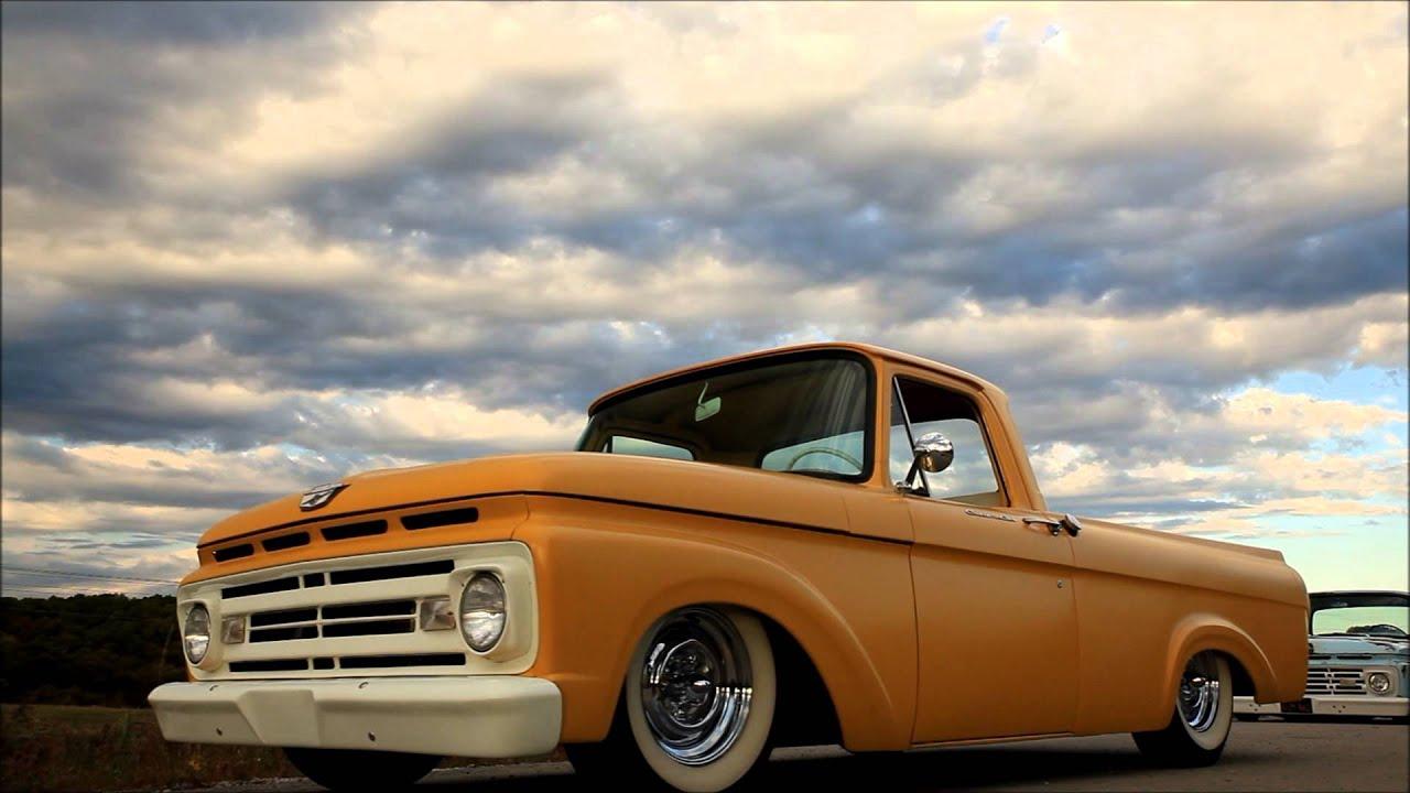 62 Ford Unibody Pickup Truck Slammed Moon Pie W 472 Big Block 1961 F100 Pick Up Caddy Motor For Sale Youtube