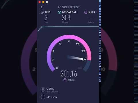 TEST Fibra Movistar con SpeedTest en mi iMac