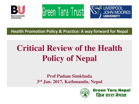 Critical Review of the Health Policy of Nepal   Padam Simkhada