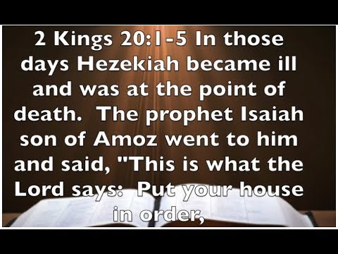 2 Kings 20:1-5 God Is Listening - Are You Talking ?
