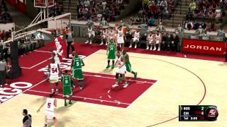 NBA 2K11 Michael Jordan Gameplay Bulls Vs. Celtics PC HD