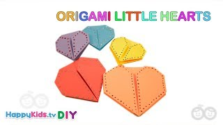 Origami Little Hearts | Paper Crafts | Kid's Crafts and Activities | Happykids DIY