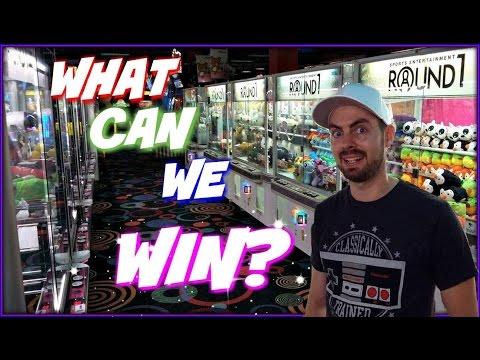 Round 1 Arcade Ufo Catchers Claw Machines & Stack n Grab What Can We Win? Arcadejackpotpro