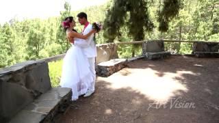 Над облаками. Красивое свадебное видео. Свадьба в Испании на Тенерифе. Фотограф в Испании.