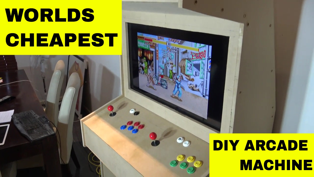 Ladcade - US$200 Cheap DIY Full Size Aracade Machine What you need ...