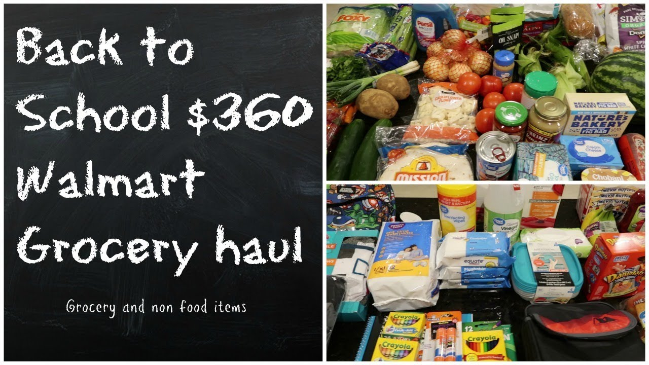 Back to School $360 Grocery haul ~ School supplies, lunch ideas, & more!