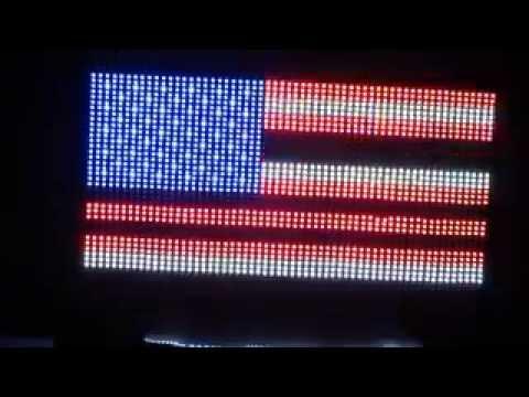 American Flag In LED