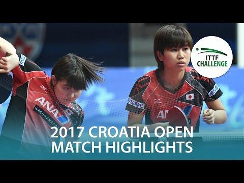 Croatia Open Highlights: Sato HitomiHonoka H vs Daria TrigolosNadeza B Final