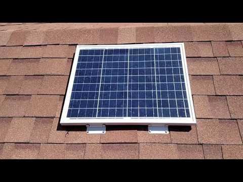 12 volt solar power porch light project.