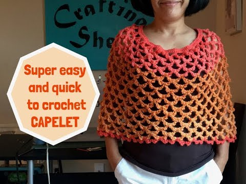 How To Crochet Easy Capelet Youtube