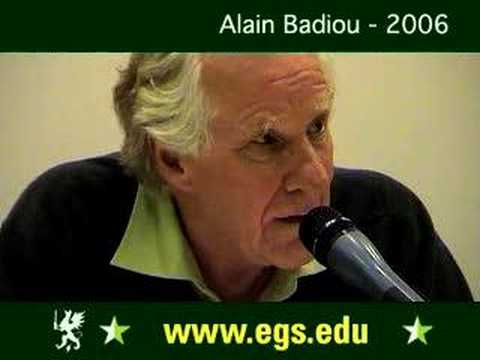Alain Badiou. Democracy as a Condition for Philosophy. 2006