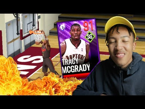 Why?! TRACY MCGRADY '00 GAMEPLAY, Best SG? (NBA LIVE MOBILE)