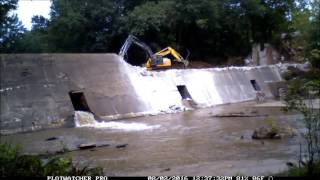 Shuford Mill Dam Removal Time Lapse - Phase 1