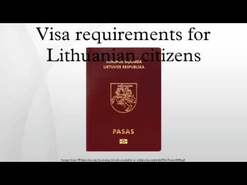 Visa requirements for Lithuanian citizens