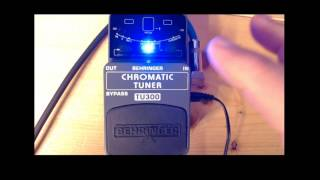 Behringer TU300 Tuning pedal revisited