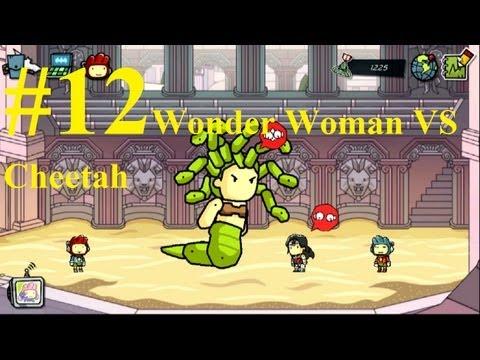 Scribblenauts Unmasked Complete Gameplay PC 2013 #12 : Wonder Woman VS Cheetah