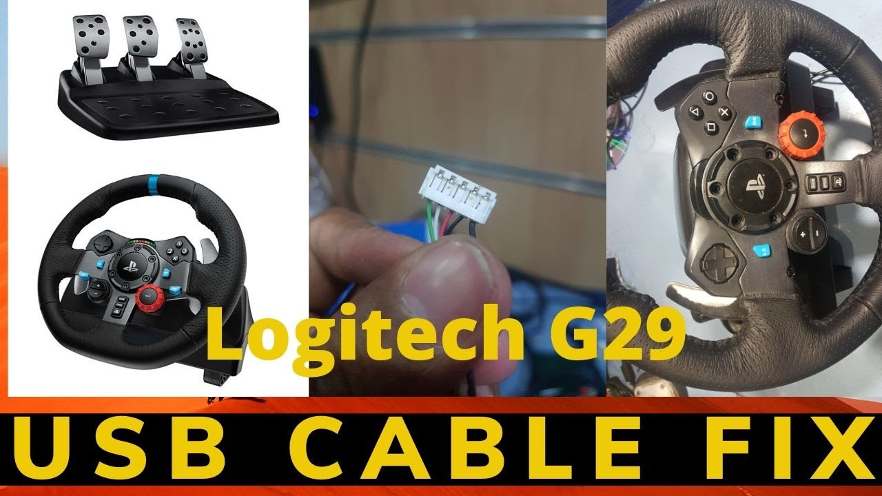Logitech G29 Driving Force Race Wheel Logitech Pc Usb Cable Problem Fix At Home Youtube