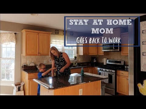 STAY AT HOME MOM GOES BACK TO WORK | WEEKLY VLOG