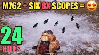 Six 8x Scopes Found In One Match | Solo Vs Squad | PUBG Mobile