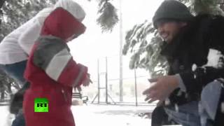 Chilling Video ~ Severe Snow Storm Hits Mideast