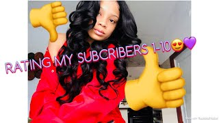 RATING MY SUBSCRIBERS 1-10 😍💜 PART 2 ft. Beauty Forever Hair☺️