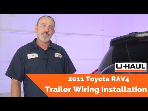 2011 Toyota RAV4 Trailer Wiring Installation - YouTubeYouTube