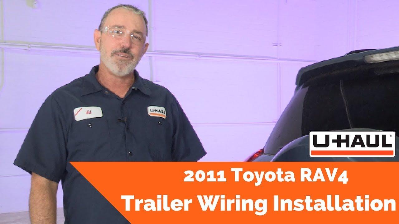 2011 toyota rav4 trailer wiring installation youtube. Black Bedroom Furniture Sets. Home Design Ideas