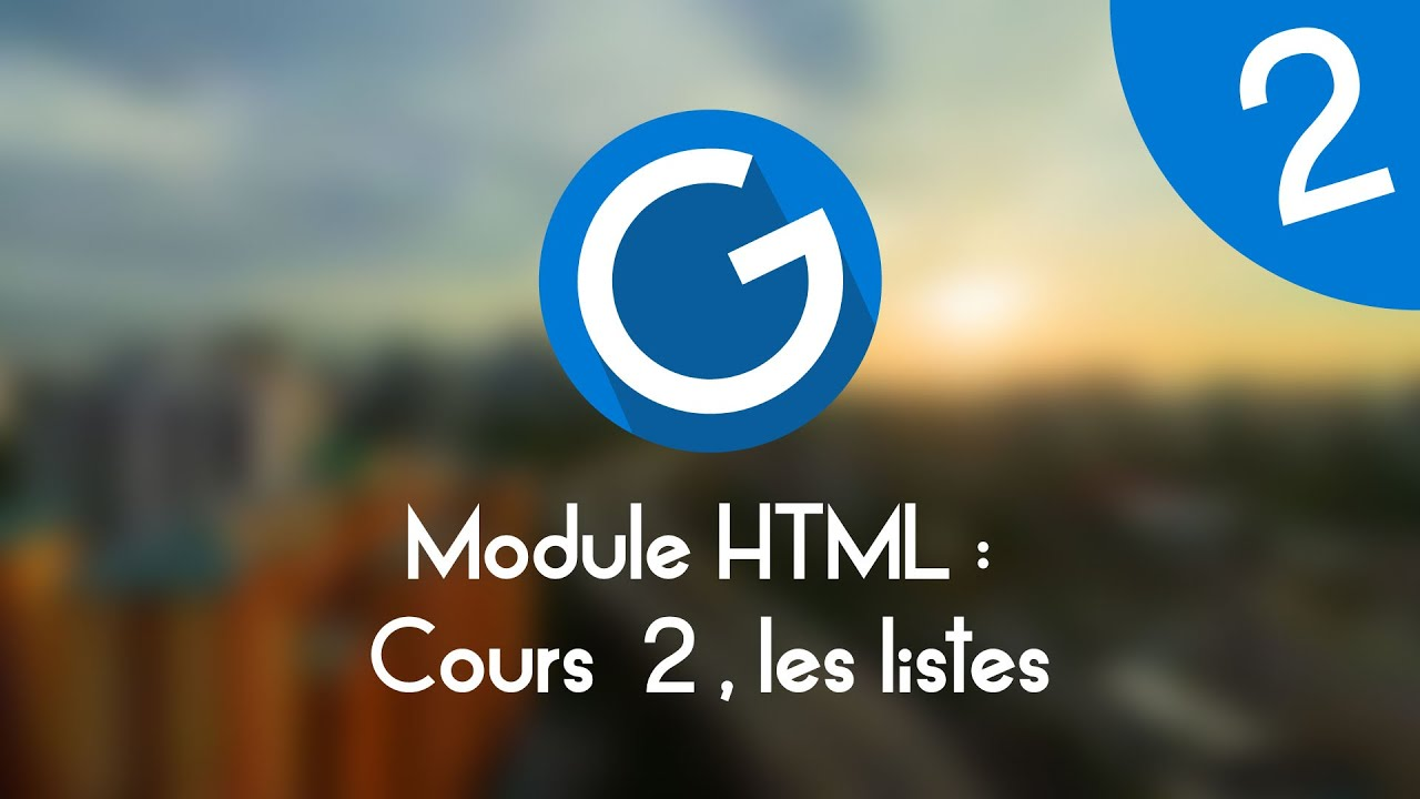 Download Formation IMM - Module HTML : Cours tuto 2 , les listes