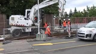 Bauarbeiten Streckenerweiterung nach St. Louis 3er Linie Basel
