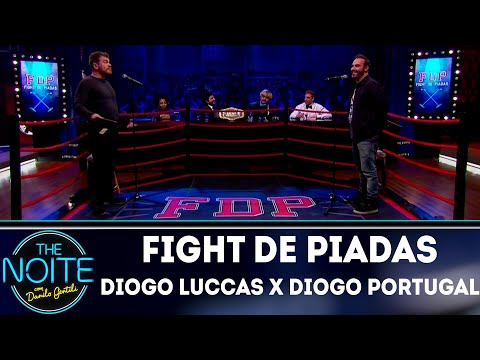Fight de Piadas: Diogo Luccas x Diogo Portugal - Ep.18 | The Noite (19/07/18)