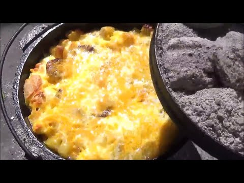Mountain Man Breakfast Scaled Back for Two  Dutch Oven Cooking