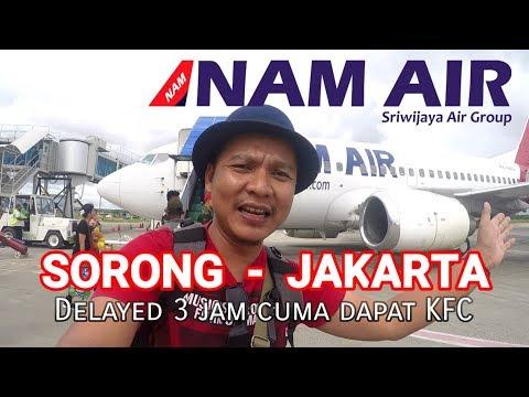 Terbang Perdana dgn NAM air (Sorong - Jakarta), delayed 3 jam dapat Ayam KFC (Papua vlog117)