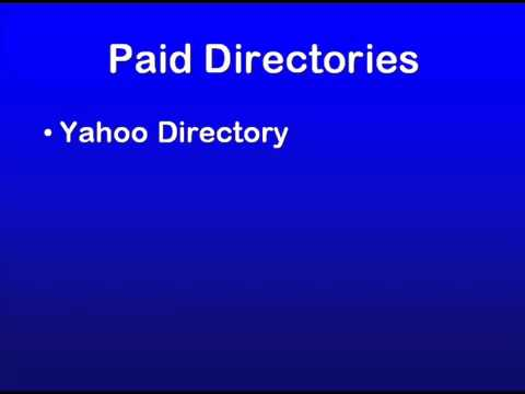 15 - SEO Education 101 Promotion - Paid Directories