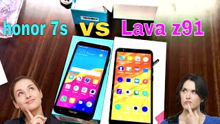 honor 7s Vs Lava Z91 2gb Unboxing review and compare in Hindi
