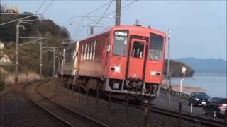 【根尾踏切】平日朝7時から1時まで約6時間列車を撮影(2017/3/20.24)