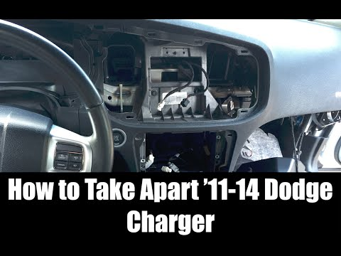2011-2014 Dodge Charger Interior Take Apart: Dash, Center Console, Cluster, Glove & MORE| HD