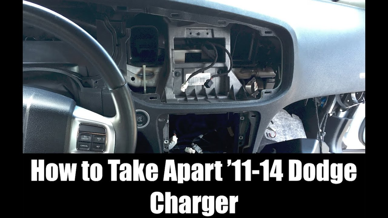 2011 2014 Dodge Charger Interior Take Apart Dash Center Console Challenger On Rv Battery Wiring Diagram Cluster Glove More Hd Youtube