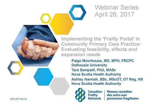 2017 04 26 Implementing the 'Frailty Portal' in Community Pr
