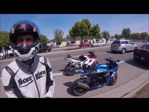 ROAD RAGE AGAINST MOTORCYCLES | Fresno Police get involved | GSXR 750 MOTOVLOG