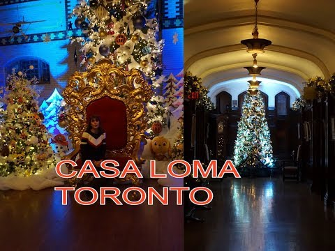 Casa Loma Christmas time 2017 .Christmas Castle.Circus performers.