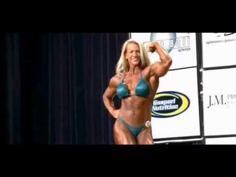 Muscle Building   Beautiful Blonde Female Bodybuilder Kris Murrell Flexing Muscles 2012 youtube orig