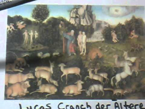 16th Century German Artist Lucas Cranach der Altere Painting Of Adam&Eve Decoded By G Wright